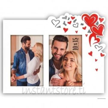 Picture of 2 COLLAGE WHITE HEART FRAME