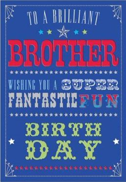 Picture for category Brother Birthday Cards