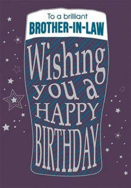 Picture for category Brother In Law Birthday Cards