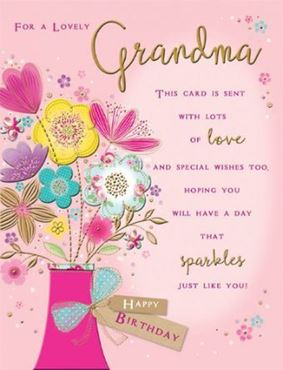 Picture for category Grandma Birthday Cards