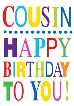 Picture for category Cousin Birthday Cards