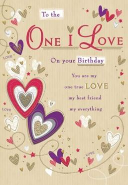 Picture for category The One I Love Birthday Cards