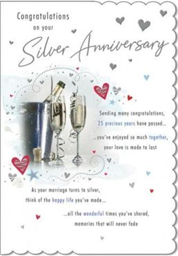 Picture for category Silver Anniversary Cards