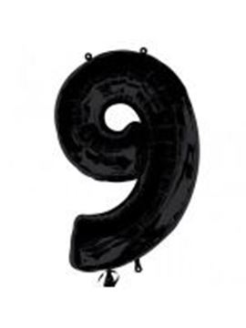 Picture of BLACK NUMBER 9 FOIL 34 INCH
