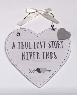 Picture of A TRUE LOVE STORY HEART PLAQUE