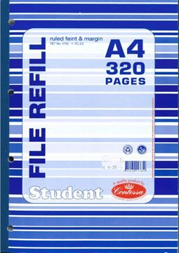 Picture of FILE REFILL PAD A4 320PGS - CLOTH BOUND