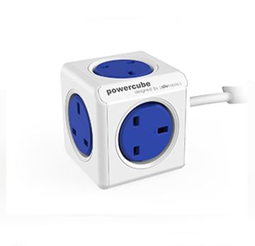 Picture of POWERCUBE EXTENDED UK 5 WAY SOCKET 1.5M BLUE
