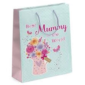 Picture of BEST MUM IN THE WORLD BAG MEDIUM GIFT BAG