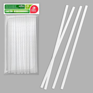 Picture of CARDBOARD STRAWS - WHITE