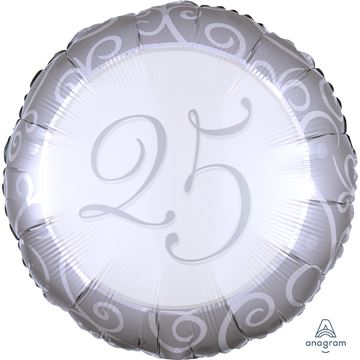 Picture of SILVER 25TH ANNIVERSARY FOIL BALLOON 17INCH